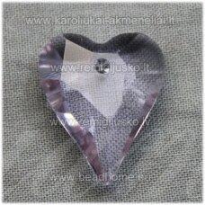 swp0184-sird-21x18x8 apie 21 x 18 x 8 mm, širdutės forma, skaidrus, melsva spalva, pakabukas, 1 vnt.