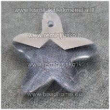 swp0184-zvai-20x21x7 apie 20 x 21 x 7 mm, žvaigždės forma, melsva spalva, pakabukas, 1 vnt.