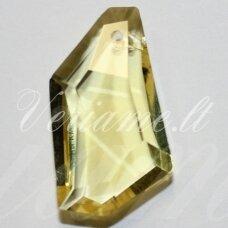 swp0192-kit-24x14x7 apie 24 x 14 x 7 mm, netaisyklinga forma, briaunuotas, skaidrus, geltona spalva, pakabukas, 1 vnt.