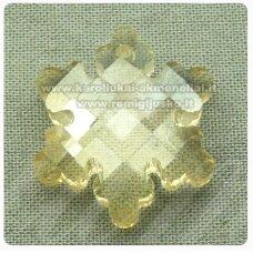 swp0192-snai-20x18x7 apie 20 x 18 x 7 mm, snaigės forma, šviesi, gelsva spalva, pakabukas, 1 vnt.