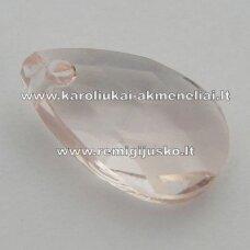 swp0195-las-16x9x6 apie 16 x 9 x 6 mm, lašo forma, šviesi, rožinė spalva, pakabukas, 1 vnt.