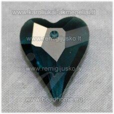 swp0209-sird-21x18x8 apie 21 x 18 x 8 mm, širdutės forma, skaidrus, tamsi, elektrinė spalva, pakabukas, 1 vnt.