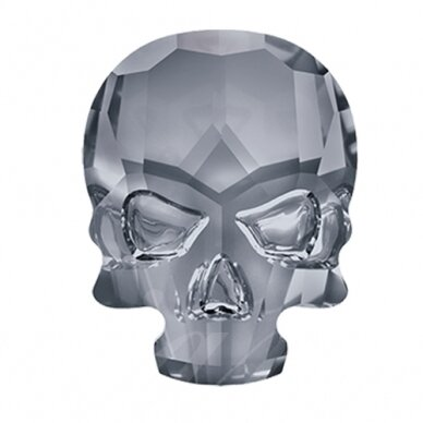 Swarovski 2856 Skull 14x10.5mm Crystal Silver Night unfoiled