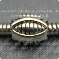tr0191 about 9.5 x 7.5 mm, oblong shape, metal color, metal insertion, 1 pc.