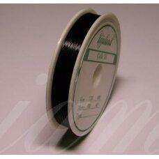 TRS0002-0.38 apie 0.38 mm, juoda spalva, troselis, 50 m.