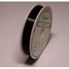TRS0002-0.45 apie 0.45 mm, juoda spalva, troselis, 10 m.