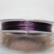 TRS0022 apie 0.38 mm, tamsi, alyvinė spalva, troselis, 10 m.
