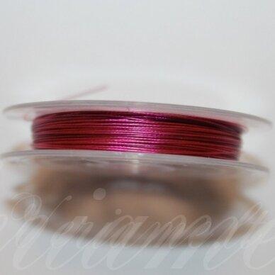 TRS0051 apie 0.3 mm, tamsi, rožinė spalva, troselis, 10 m.