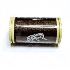 turkylm-ps0807-100m, tamsi, ruda spalva, 120 numerio, poliesterio siūlas, apie 100m.