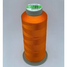 turkylm-ss-20m-149/21 apie 0.4 mm storio, oranžinė spalva, 100% natūralaus šilko siūlas, apie 20 m.