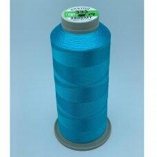 turkylm-ss-20m-333/19 apie 0.4 mm storio, žydra spalva, 100% natūralaus šilko siūlas, apie 20 m.