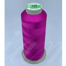 turkylm-ss-20m-446/11 apie 0.4 mm storio, ryški, rožinė spalva, 100% natūralaus šilko siūlas, apie 20 m.