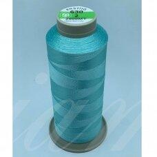 turkylm-ss-20m-630/2 apie 0.4 mm storio, šviesi, žydra spalva, 100% natūralaus šilko siūlas, apie 20 m.