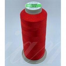 turkylm-ss-20m-666/63 apie 0.4 mm storio, raudona spalva, 100% natūralaus šilko siūlas, apie 20 m.