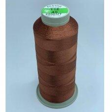 turkylm-ss-2500m-118/49 apie 0.4 mm storio, ruda spalva, 100% natūralaus šilko siūlas, apie 2500 m.