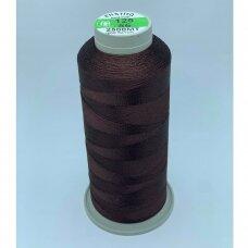turkylm-ss-2500m-125/56 apie 0.4 mm storio, tamsi, ruda spalva, 100% natūralaus šilko siūlas, apie 2500 m.