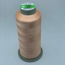 turkylm-ss-2500m-142/85 apie 0.4 mm storio, persikinė spalva, 100% natūralaus šilko siūlas, apie 2500 m.