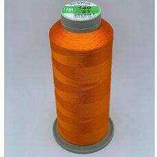 turkylm-ss-2500m-149/21 apie 0.4 mm storio, oranžinė spalva, 100% natūralaus šilko siūlas, apie 2500 m.