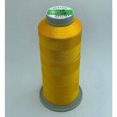turkylm-ss-2500m-15/26 apie 0.4 mm storio, geltona spalva, 100% natūralaus šilko siūlas, apie 2500 m.