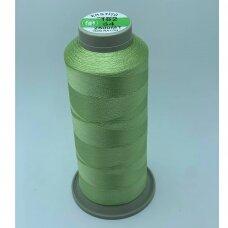 turkylm-ss-2500m-162/64 apie 0.4 mm storio, žalsva spalva, 100% natūralaus šilko siūlas, apie 2500 m.