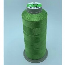 turkylm-ss-2500m-163/25 apie 0.4 mm storio, žalsva spalva, 100% natūralaus šilko siūlas, apie 2500 m.
