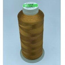 turkylm-ss-2500m-176/14 apie 0.4 mm storio, ruda spalva, 100% natūralaus šilko siūlas, apie 2500 m.