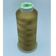 turkylm-ss-2500m-199/40 apie 0.4 mm storio, šviesi, ruda spalva, 100% natūralaus šilko siūlas, apie 2500 m.