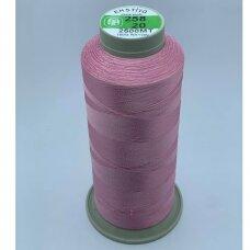 turkylm-ss-2500m-258/20 apie 0.4 mm storio, šviesi, rožinė spalva, 100% natūralaus šilko siūlas, apie 2500 m.