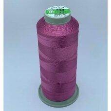 turkylm-ss-2500m-260/77 apie 0.4 mm storio, tamsi, rožinė spalva, 100% natūralaus šilko siūlas, apie 2500 m.