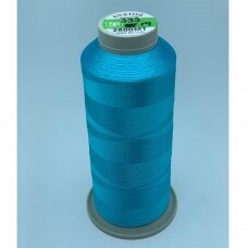 turkylm-ss-2500m-333/19 apie 0.4 mm storio, žydra spalva, 100% natūralaus šilko siūlas, apie 2500 m.