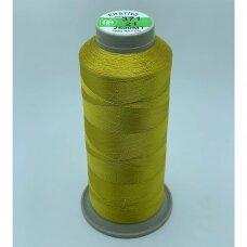 turkylm-ss-2500m-371/21 apie 0.4 mm storio, šviesi, auksinė spalva, 100% natūralaus šilko siūlas, apie 2500 m.