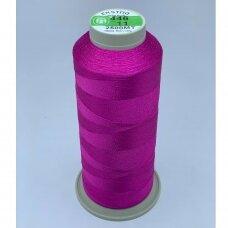 turkylm-ss-2500m-446/11 apie 0.4 mm storio, ryški, rožinė spalva, 100% natūralaus šilko siūlas, apie 2500 m.