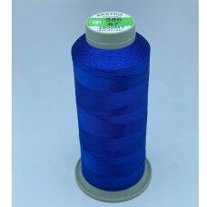 turkylm-ss-2500m-586/67 apie 0.4 mm storio, mėlyna spalva, 100% natūralaus šilko siūlas, apie 2500 m.