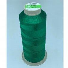 turkylm-ss-2500m-596/43 apie 0.4 mm storio, smaragdinė spalva, 100% natūralaus šilko siūlas, apie 2500 m.