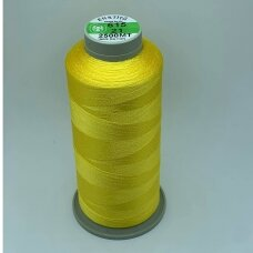 turkylm-ss-2500m-615/21 apie 0.4 mm storio, šviesi, geltona spalva, 100% natūralaus šilko siūlas, apie 2500 m.
