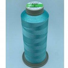 turkylm-ss-2500m-630/2 apie 0.4 mm storio, šviesi, žydra spalva, 100% natūralaus šilko siūlas, apie 2500 m.