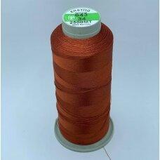 turkylm-ss-2500m-643/34 apie 0.4 mm storio, ruda spalva, 100% natūralaus šilko siūlas, apie 2500 m.