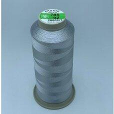 turkylm-ss-2500m-705/92 apie 0.4 mm storio, šviesi, pilka spalva, 100% natūralaus šilko siūlas, apie 2500 m.