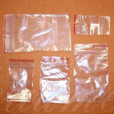 um0006 apie 80 x 180 mm, plastikiniai užspaudžiami maišeliai, apie 100 vnt.