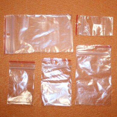 um0023 apie 250 x 350 mm, plastikiniai užspaudžiami maišeliai, apie 100 vnt.