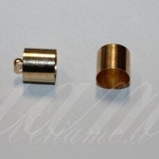 UZD0106 apie 14 x 11 mm, skylių,11.5 mm, šviesi, aukso spalva, metalinė, užbaigimo detalė, 1 vnt.
