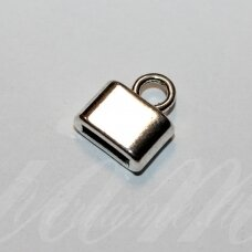 uzd0201 apie 14 x 12.5 x 5 mm, skylė 2 x 8.5 mm, metalo spalva, metalinė, užbaigimo detalė, 1 vnt.
