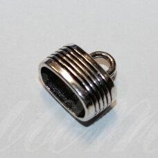 UZD0202 apie 13.5 x 15 x 9.5 mm, skylių,7 x 12.5 mm, metalo spalva, metalinė, užbaigimo detalė, 1 vnt.
