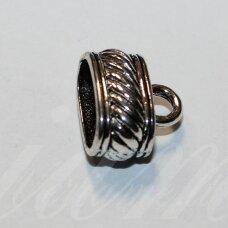 UZD0203 apie 13.5 x 15.5 x 10.5 mm, skylių,6.5 x 12.5 mm, metalo spalva, metalinė, užbaigimo detalė, 1 vnt.