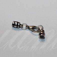 UZD0210 apie 38 x 10 x 6 mm, skylių,3.5 mm, metalo spalva, metalinė, užbaigimo detalė, 1 vnt.