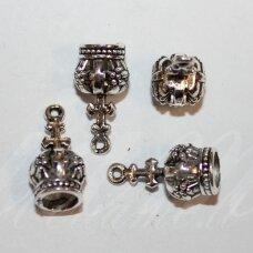 UZD0222 apie 18 x 9 mm, skylių,6 mm, metalo spalva, metalinė, užbaigimo detalė, 1 vnt.