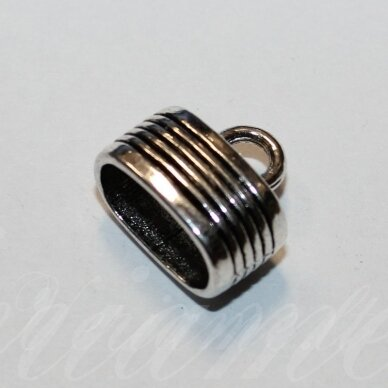 uzd0202 apie 13.5 x 15 x 9.5 mm, skylė 7 x 12.5 mm, metalo spalva, metalinė, užbaigimo detalė, 1 vnt.