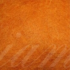 viln0449-50g, dark, orange color, felting wool, 50g.