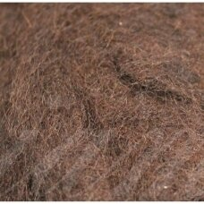 vilnruda-50g, brown color, felting wool, 50g.