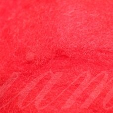 viln0114-50g, red color, felting wool, 50g.